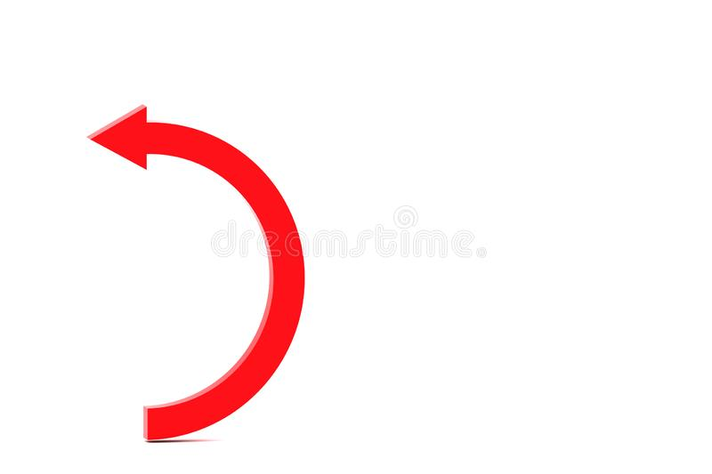 Turning curve. 3d illustration of turning curve vector illustration