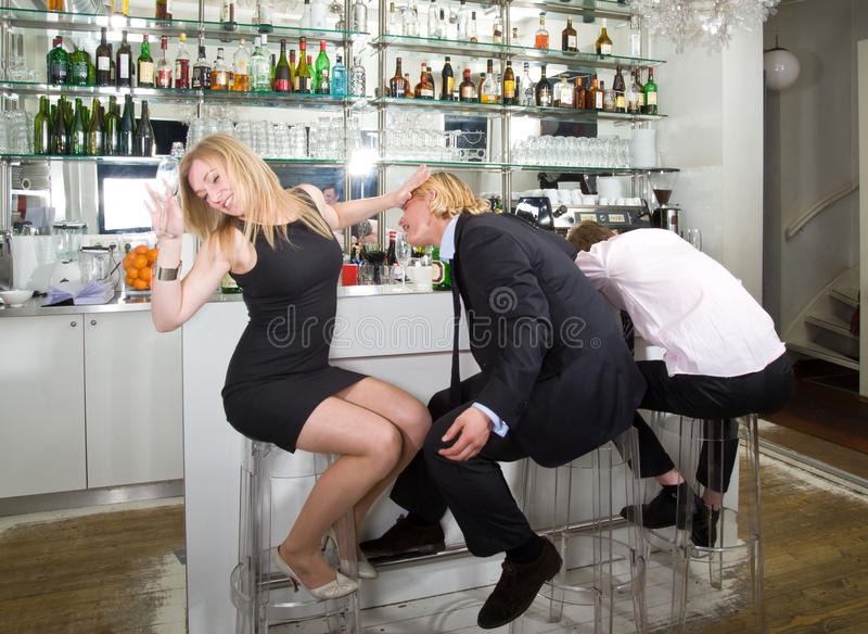 Turning Down A Flirting Man Royalty Free Stock Images