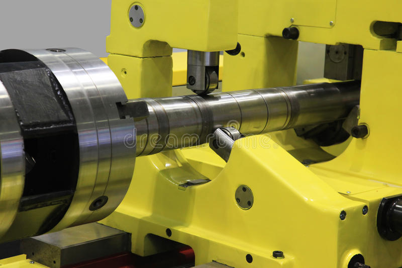 Turning machine stock image