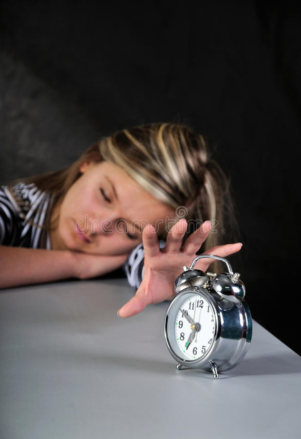 Download Turning Off Alarm Clock. Royalty Free Stock Images - Image: 21892999
