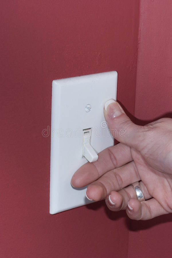 Free Turning Off The Lights Royalty Free Stock Images - 2188009