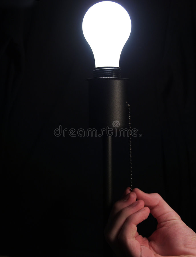 Free Turning On Lightbulb Stock Photo - 4227960