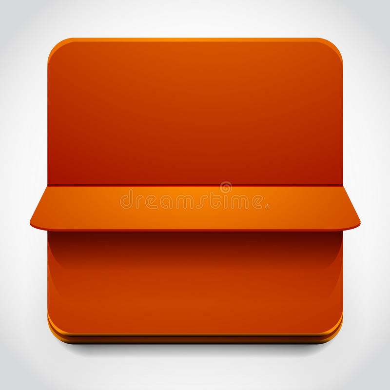 Turning over web box. Orange web box with page turning over vector illustration