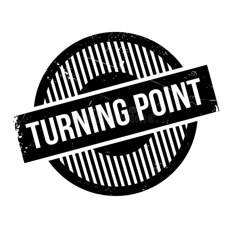 Turning Point rubber stamp. Grunge design with dust scratches. Effects can be easily removed for a clean, crisp look. Color is easily changed vector illustration