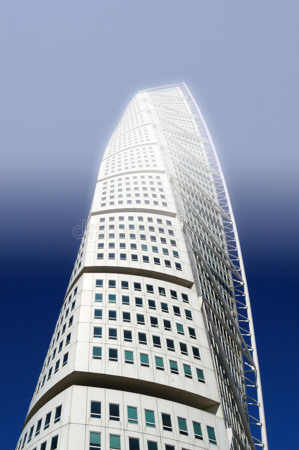 Turning Torso , Malmo, Sweden. Picture of a HSB Turning Torso is a skyscraper in Malmö, Sweden, located on the Swedish side of the Öresund strait royalty free stock photography