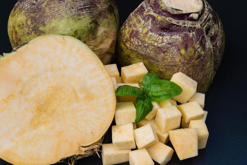 Turnip rutabaga brassica napus stock photos
