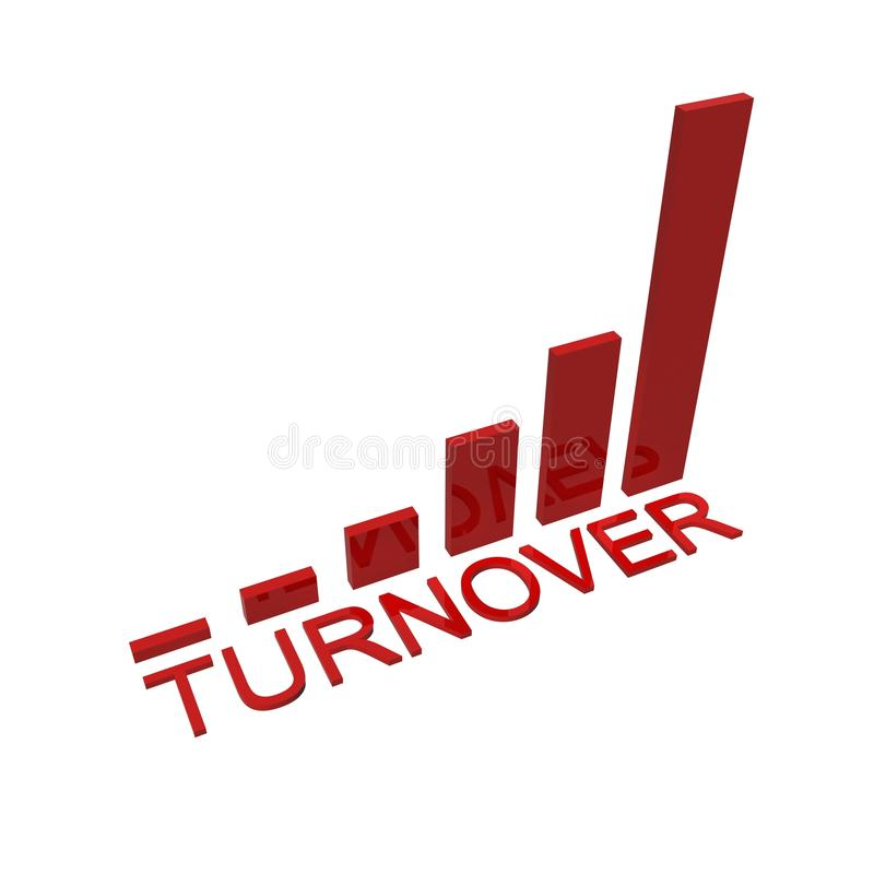 Turnover success graph royalty free stock photography