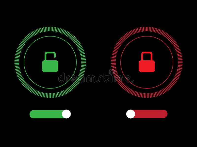 Turns on-off button vector design for web application. Vector design for business royalty free illustration