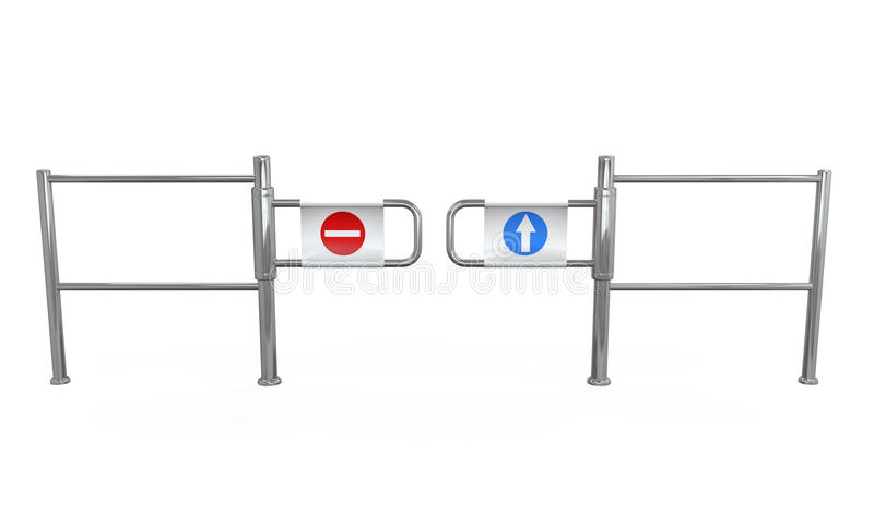 Download Turnstile Entrance Isolated Stock Illustration - Illustration of device, accessibility: 33741110