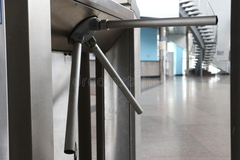 Turnstile in transport stock photography