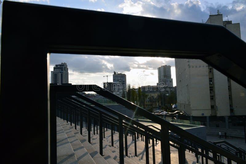 Turnstiles dichtbij het stadion royalty-vrije stock foto's