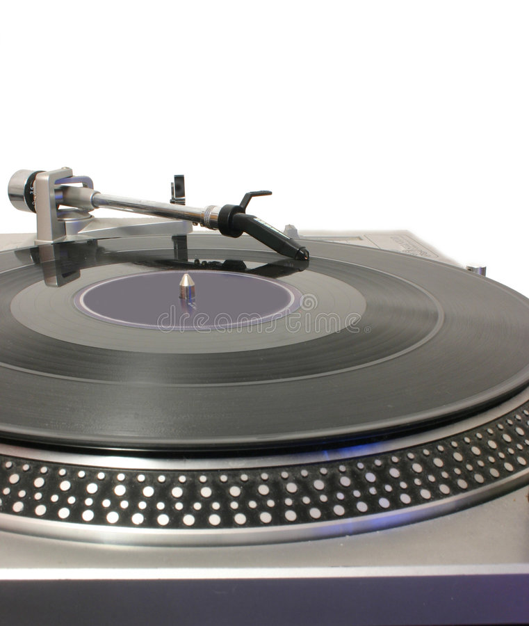 Download Turntable stock image. Image of over, record, club, mixing - 118537