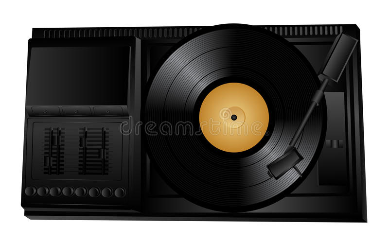 Download Turntable stock vector. Image of media, turn, vinyl, object - 12566007