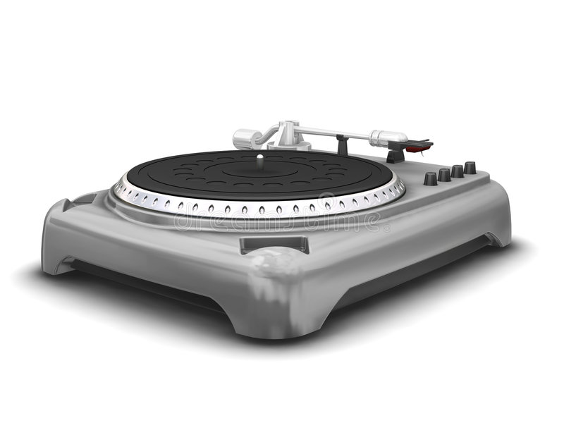 Turntable. 3D render of a turntable stock photography