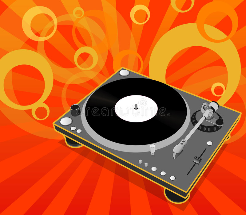 Download Turntable stock vector. Illustration of electronic, sound - 1599281