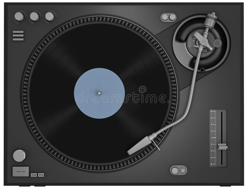 Download Turntable stock illustration. Image of audio, entertainment - 17864762