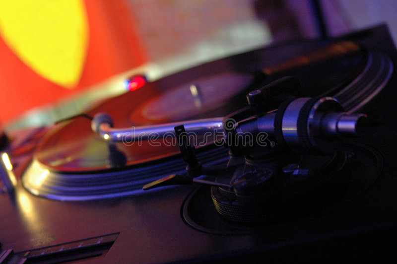 The Turntable. At the party royalty free stock images