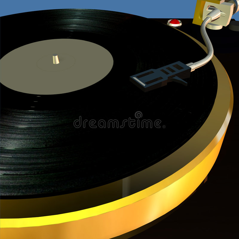 Turntable 4 stock image