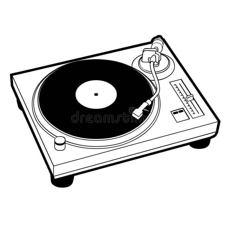 Turntable vector illustration