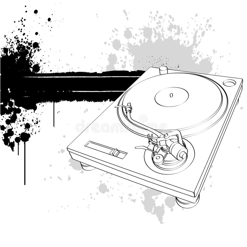Download Turntable stock vector. Image of mixing, entertainment - 9916830