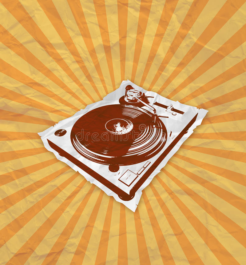 Download Turntable flyer 2_2 stock illustration. Image of player - 27490340