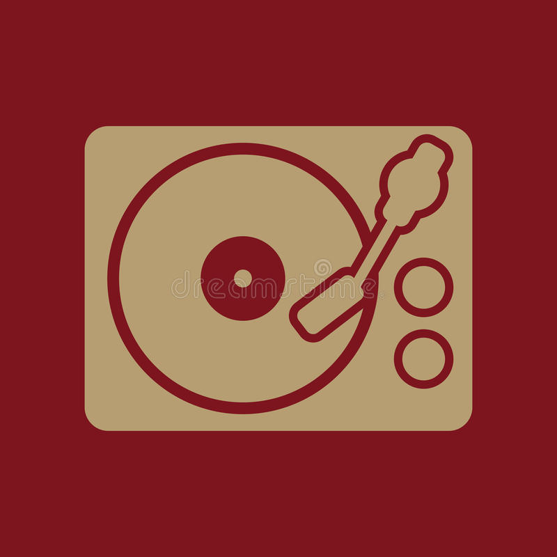 The Turntable Icon. DJ And Melody, Music, Player Symbol