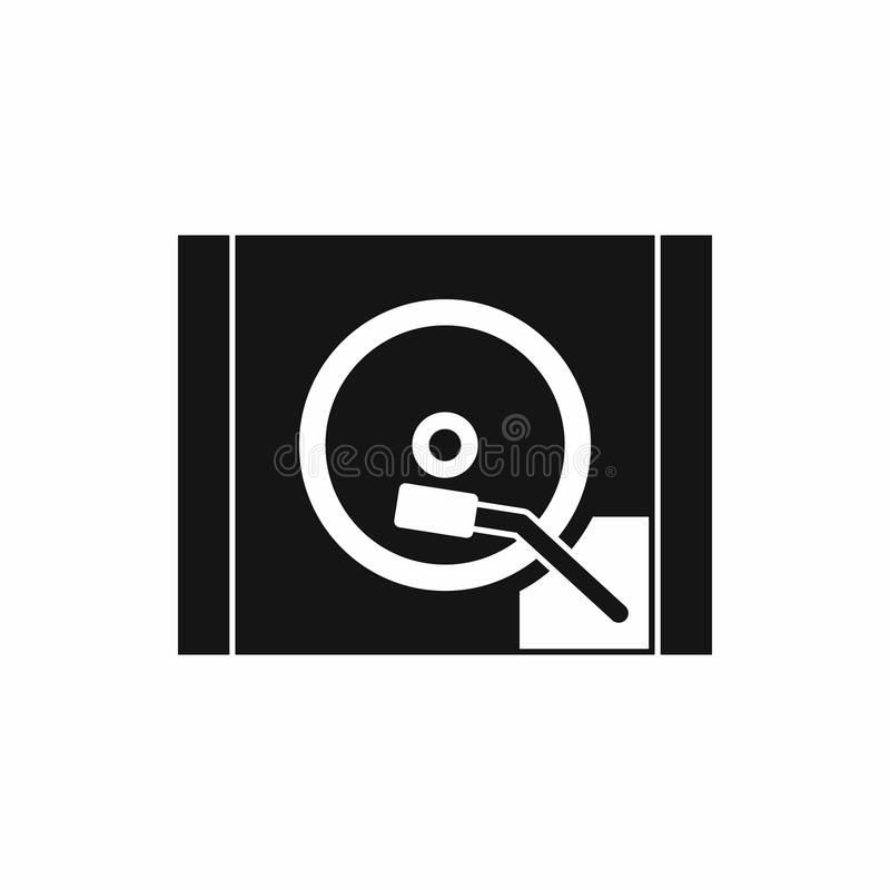 Turntable icon, simple style. Turntable icon in simple style isolated on white background. Music symbol stock illustration