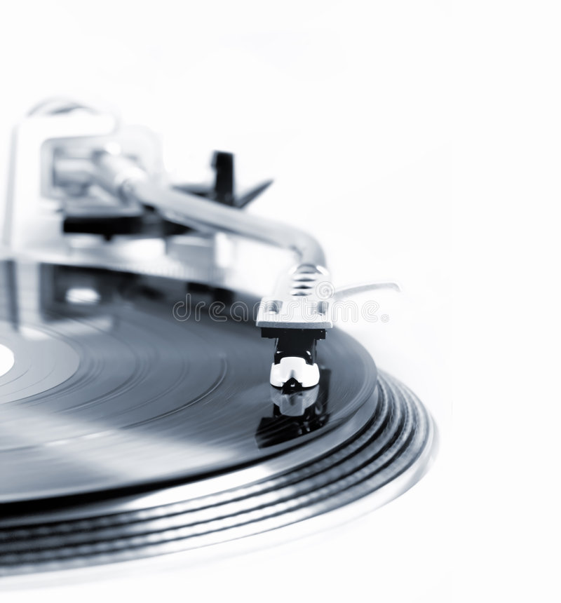 Turntable in motion. High lights and selectively Get out of focus stock photography