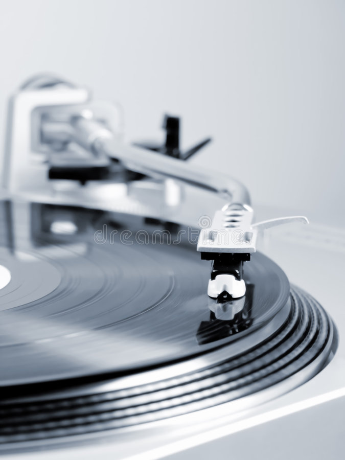 Turntable In Motion. Royalty Free Stock Images
