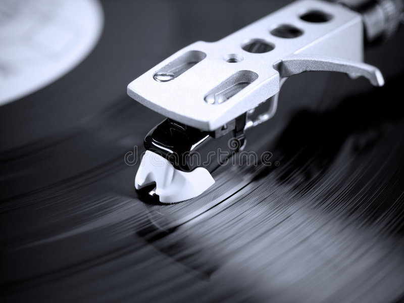 Download Turntable in motion. stock image. Image of tunes, entertainment - 6104911