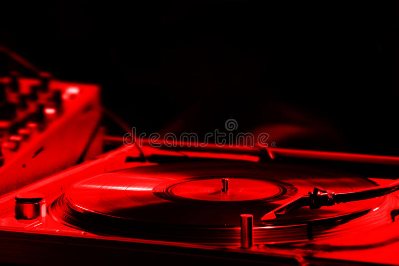 Turntable in a nightclub royalty free stock photography