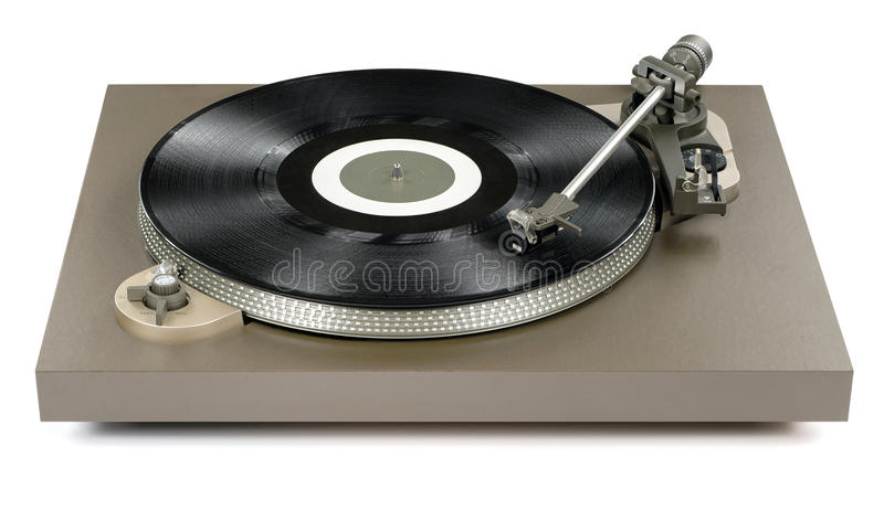 Turntable. Player playing a record royalty free stock photography