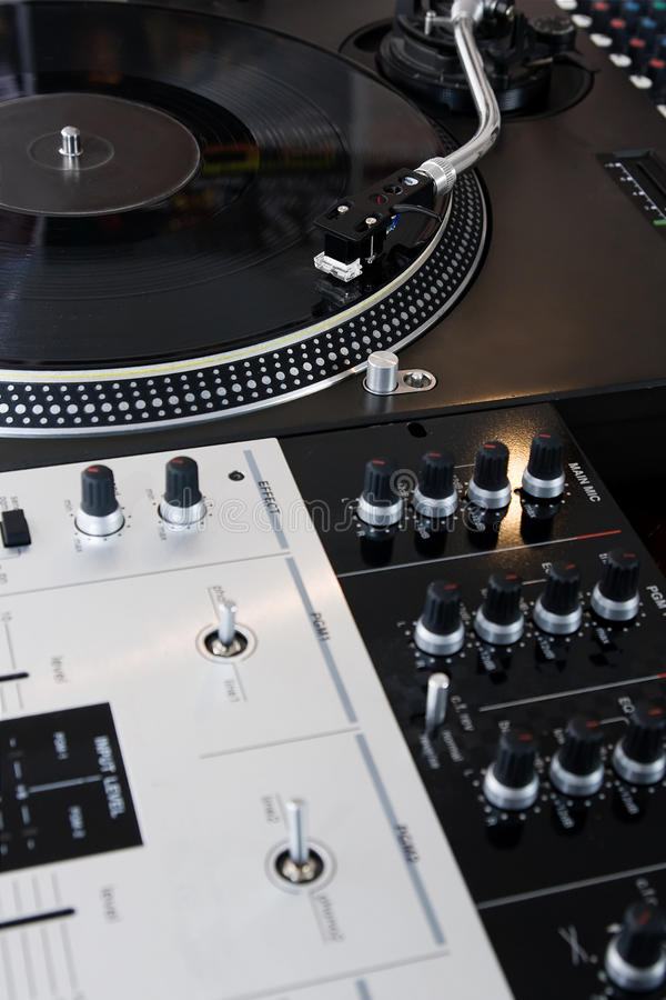 Download Turntable Playing Vinyl Music Record Royalty Free Stock Photos - Image: 26030138