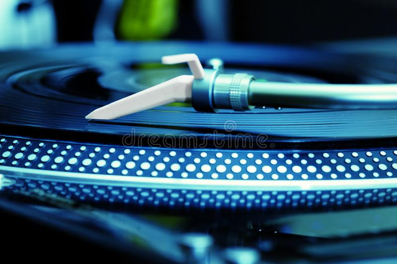 Turntable playing vinyl record royalty free stock images