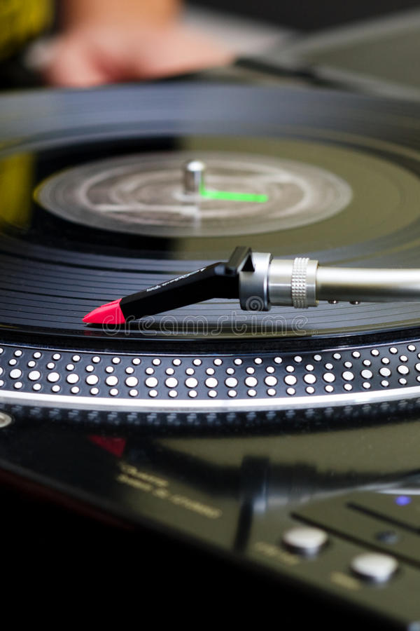 Download Turntable Playing Vinyl Record Stock Image - Image: 26476677