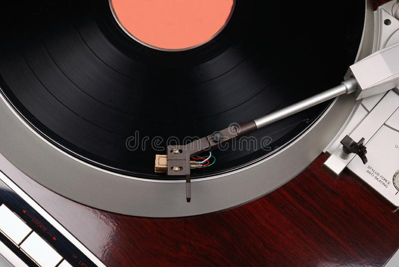Turntable with record stock photos
