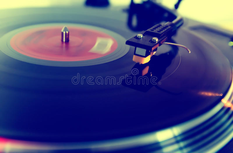 Turntable. A turntable spinning round royalty free stock images