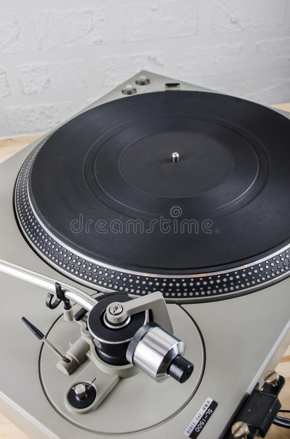 Turntable vintage. Turntable music equipment for record music vintage tectology stock image