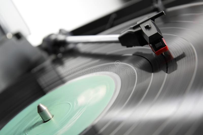 Turntable. Vintage turntable with vinil LP royalty free stock images