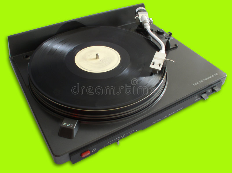 Turntable with vinyl royalty free stock photography