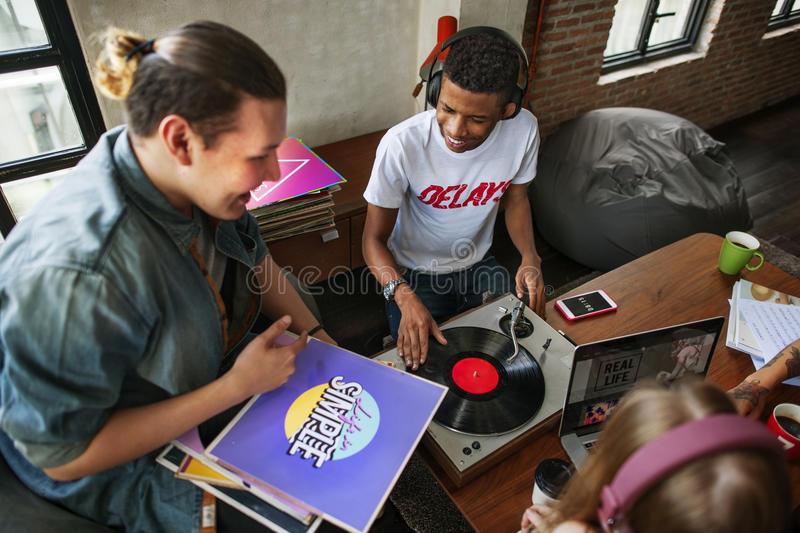 Turntable Vinyl Record DJ Scratch Music Entertainment Concept royalty free stock image