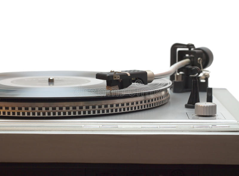 Download Turntable With Vinyl Record Isolated Stock Photo - Image: 28062896