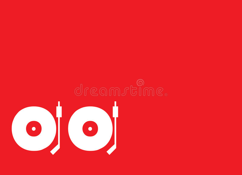 Turntables royalty free stock photography