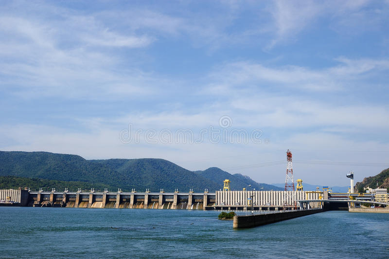 TURNU SEVERIN-ROMANIA, SEP 16:The Iron Gate I Hydroelectric Power Station is the largest dam on the Danube river and one of the l. Argest hydro power plants in stock photo