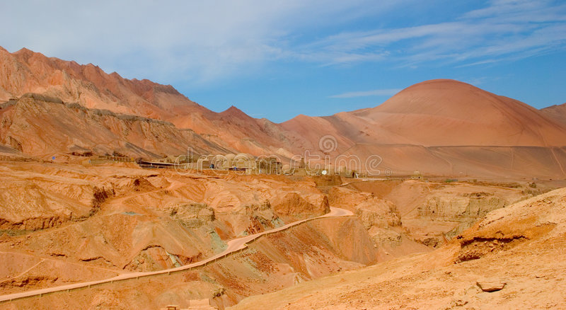 Turpan. Located in China's north-west to the famous and very hot weather stock images