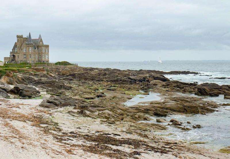 Turpault castle in Brittany stock photos