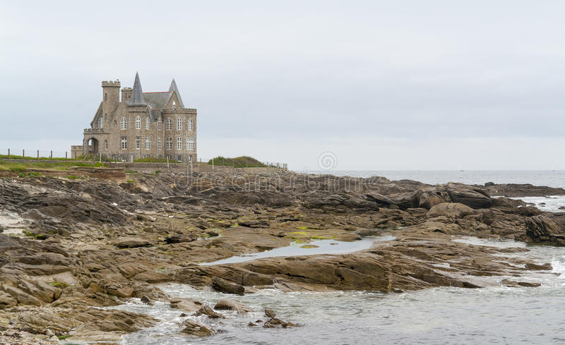 Turpault castle in Brittany stock photo