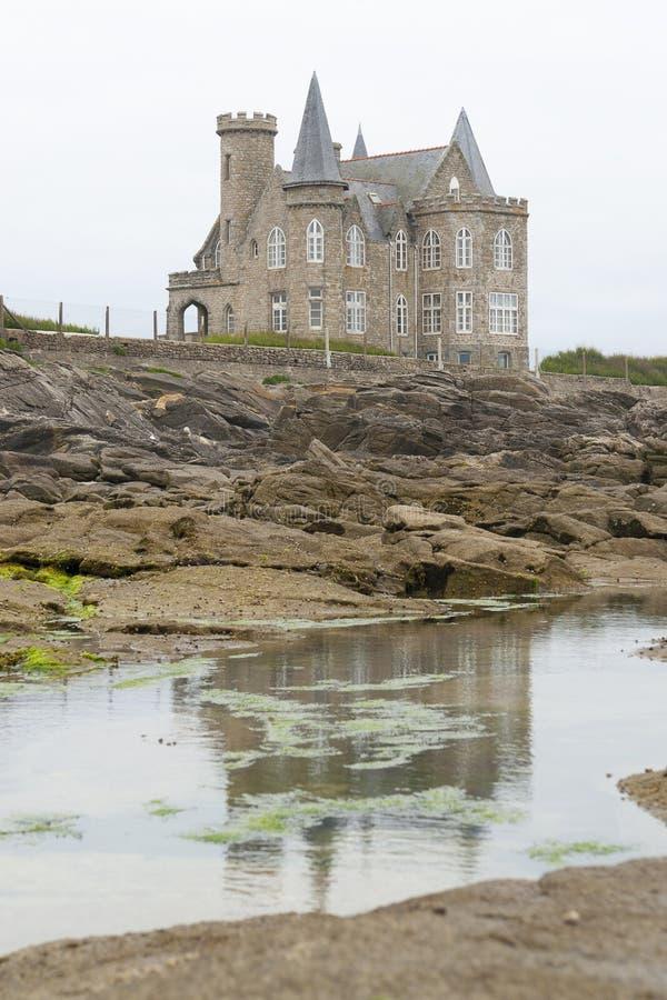 Turpault-Schloss in Bretagne lizenzfreie stockfotos