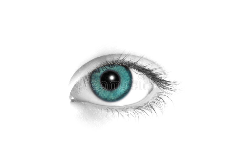 Turqoise eye royalty free stock images