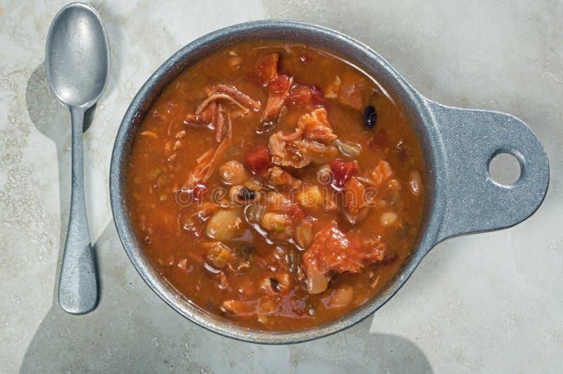 Turquía ahumada y Bean Soup imagenes de archivo